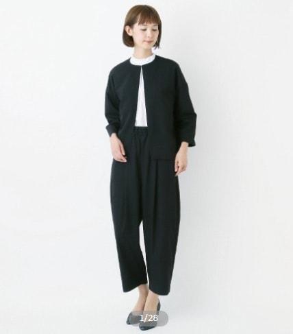 フォーマルアンサンブル2点セット【ノーカラージャケット&バルーンパンツ】